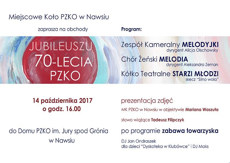 Zaproszenie jubileusz 2017