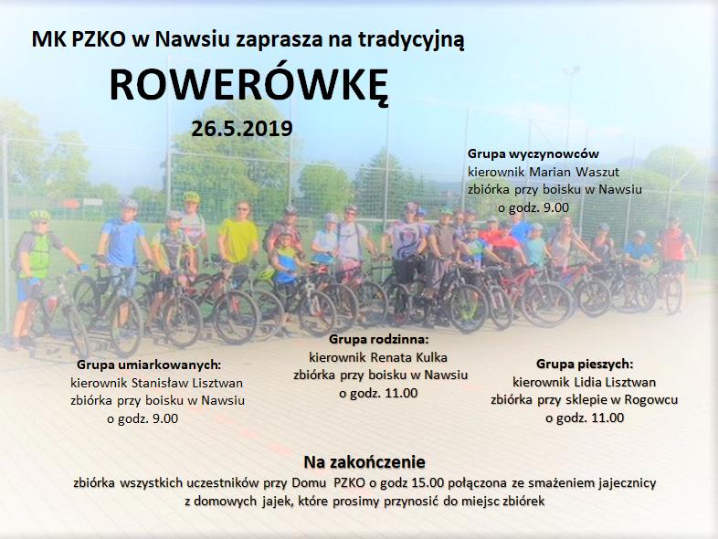 Zaproszenie - Rowerówka 2019