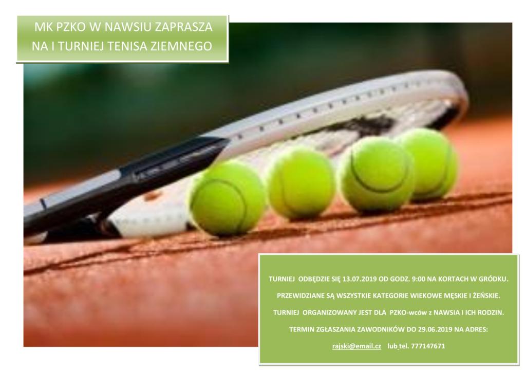 Turniej tenisa 2019